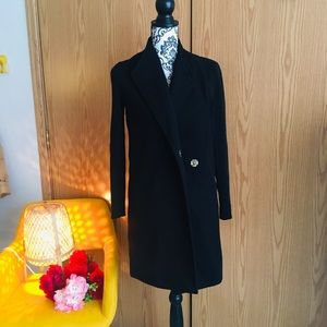 Kenneth Cole coat with knit sleeves Xs